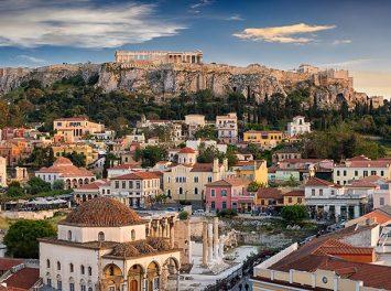 Panoramablick über die Altstadt von Athen