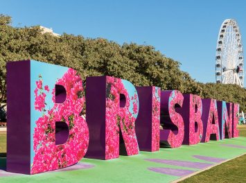 Brisbane Schriftzug in South Bank Parklands