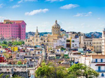 Skyline vom Stadtzentrum Havanna, Kuba