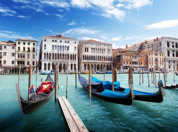 Venezianische Gondeln, Venedig
