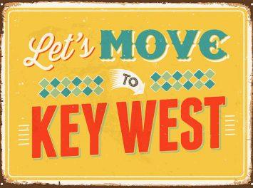 Vintage Metallschild, Key West