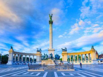 Millenniumsdenkmal auf dem Heldenplatz, Budapest.