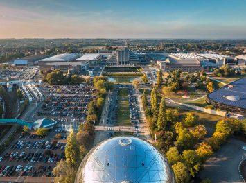 Ansicht vom Atomium, Brüssel