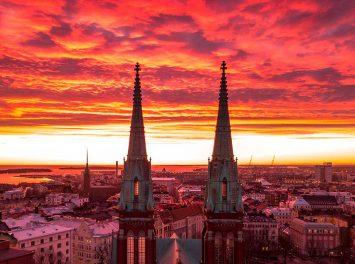 Sonnenuntergang, Helsinki