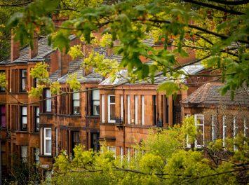 Rote Sandstein-Wohnungen, Glasgow